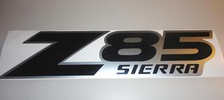 2 GMC Z85 SIERRA Factory Style DECALS STICKERS BLACK SILVER LR