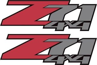 2 Chevy Z71 Off Road 4x4 Truck Decal/Sticker X2  #2