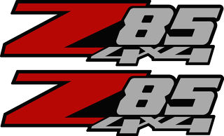 2 - Z85 4x4 Chevy Decal Sticker Parts for Silverado GMC Sierra Z71 style