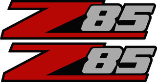 2 - Z85 Chevy Decal Sticker Parts for Silverado or GMC Sierra truck non 4x4