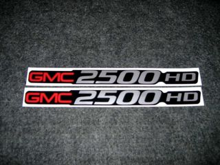 2 GMC 2500 HD DECALS GMC 2500 HEAVY DUTY SIERRA YUKON SIZE BADGE DECALS STICKERS