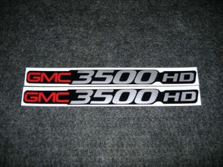 2 GMC 3500 HD DECALS GMC C3500 HEAVY DUTY SIERRA YUKON SIZE BADGE DECALS STICKERSDECALS STICKERS
