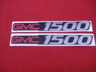 2 GMC 1500 DECALS GMC 1500 SIZE BADGE DECALS STICKERS
