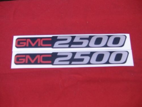 2 GMC 2500 DECALS GMC 1500 SIZE BADGE DECALS STICKERS