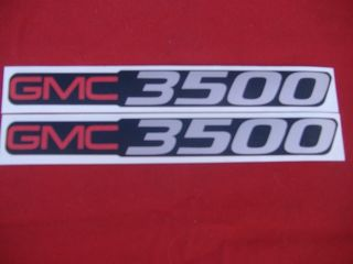 2 GMC 3500 DECALS GMC 3500 SIERRA SIZE BADGE DECALS STICKERS