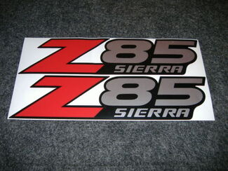 2 GMC Z85 SIERRA Factory DECALS STICKERS RED LR