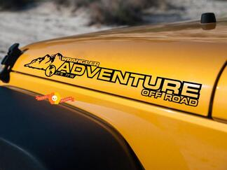 PAIR Jeep Decal Adventure WRANGLER Hood Decal rubicon sahara JK CJ TJ YJ