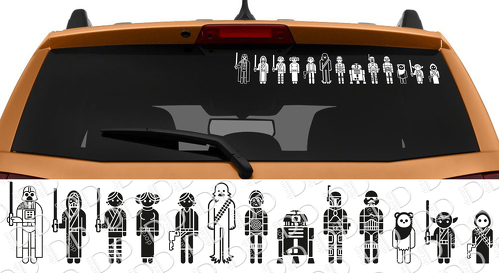 13in1 Star Wars Family Skywalker Darth Vader Leia Car Laptop Vinyl Sticker Decal