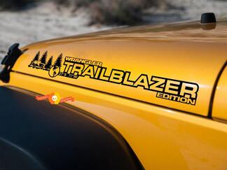 PAIR Jeep Decal TRAILBLAZER WRANGLER Hood Decal rubicon sahara JK CJ TJ YJ