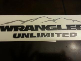 Jeep Mountain Wrangler Unbegrenzt CJ TJ YK JK XJ Alle Farben Aufkleber Aufkleber # 4