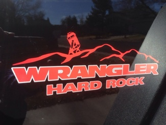 Jeep HARD ROCK Mountain Wrangler Unlimited CJ TJ YK JK XJ All Colors Sticker Decal