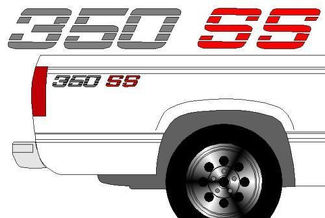 350 SS CHEVY TRUCK BEDSIDE DECALS 90-91 92-93 CHEVROLET TRUCK
