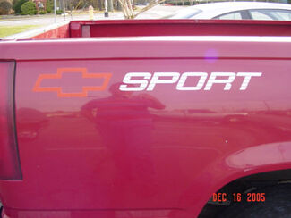 2 x CHEVROLET SPORT TRUCK BEDSIDE DECALS CHEVY