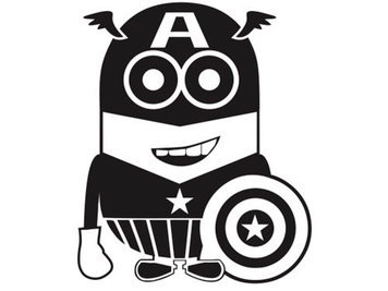 captain america minion decal sticker macbook apple