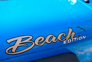 Par JEEP Badge Emblem BEACH EDITION vinyl Sticker Decal Truck