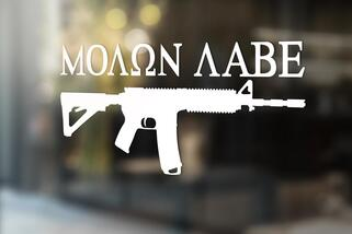 Molon Labe Decal Sticker AR-15 Rifle 2nd Amendment Gun Rights