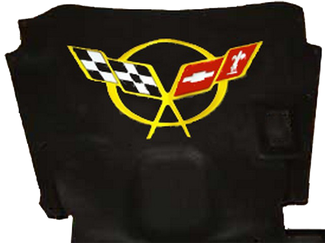 Corvette C5 Yellow Hood Logo Decal Sticker