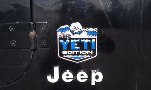 2 Jeep Wrangler Rubicon Yeti Edition CJ TJ JK XJ Vinylaufkleber
