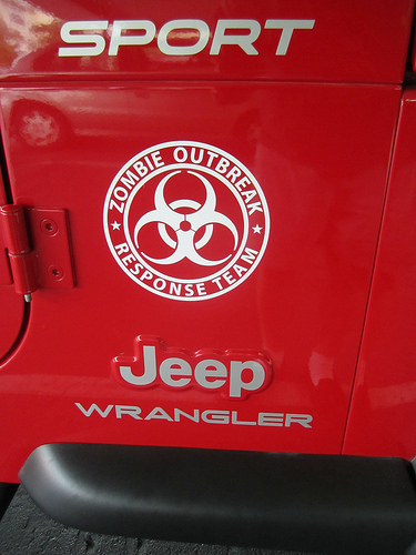 Jeep Rubicon Wrangler Zombie Outbreak Response Team Wrangler Decal#8
