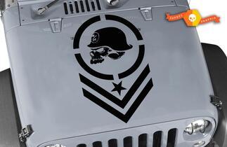 Jeep Wrangler METALL MULISHA Große Vinylhaube Aufkleber TJ LJ JK Unlimited