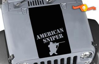 Jeep Wrangler Blackout American Sniper Vinyl Hood Decal TJ LJ JK ONBEPERKT