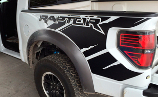 Ford Raptor SVT F150 Bedside Predator Vinyl Graphics Decals Install kit included