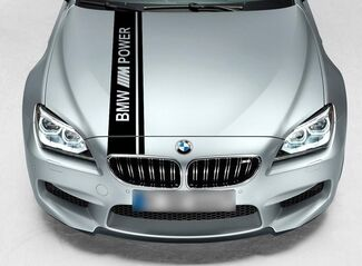 BMW Dual Rally Hood Stripe Racing M Power Motorsport Performance vinyl decal