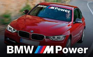 BMW M Power WINDSHIELD BANNER Window decal sticker for M3 4 5 6 e46 e36