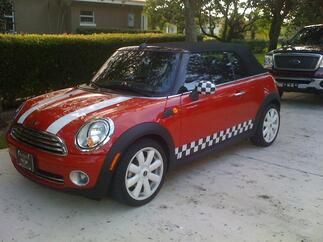 MINI COOPER checkered flag VINYL DECAL STRIPE KIT 2 side