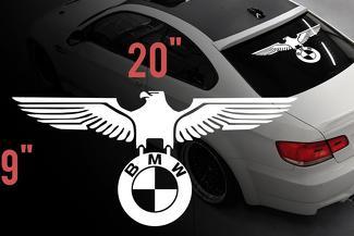 BMW Eagle Duitse auto achterruit Vinylstickers Decals voor M3 M5 M6 E36 All