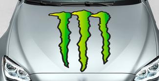 Monster Energy Drinks Logo hood decal sticker full color only logo