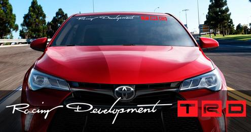 Toyota Racing Development TRD Motorsport Banner Strip Car Windshield Vinyl Sticker Decal