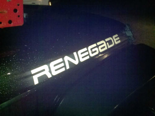 2 Renegade Jeep Wrangler Rubicon CJ TJ YK JK XJ Sticker Decal#3