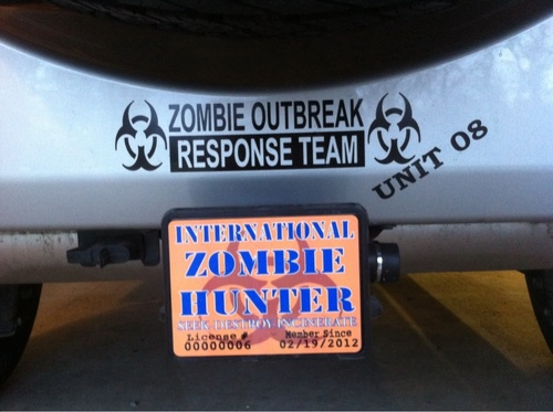 Jeep Rubicon Wrangler Zombie Outbreak Response Team Unit 8 Wrangler Decal#4