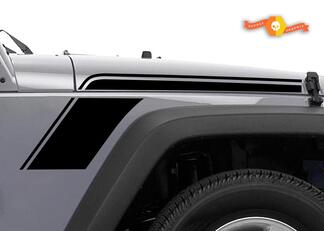 JEEP WRANGLER VINYL GRAPHICS STRIPES BED SIDE DECALS RUNDOWN 2007-2015 2