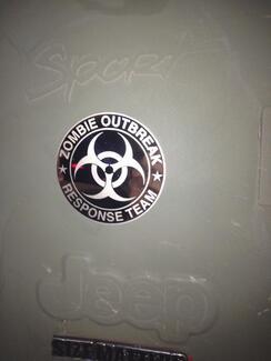 Jeep Rubicon Wrangler Zombie Ausbruch Reaktion Team Wrangler Aufkleber