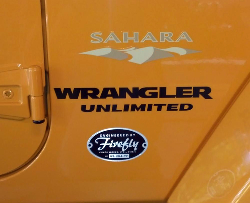 2 Sahara Jeep Wrangler Unlimited CJ TJ YK JK XJ Vinyl Sticker De