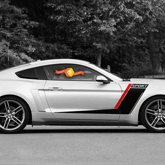 Ford Mustang Roush Style Side Stripes Graphics Decals Duo Color Any Year