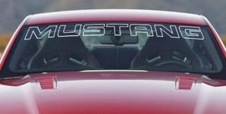 Ford Mustang White Windshield Banner Decal Letter Outline
