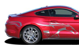Side Horse STEED Vinyl Graphic Pony Stripe Decal Vinyl fits 2015 Ford Mustang