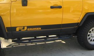 Toyota FJ Cruiser side Door stripes Decal Sticker