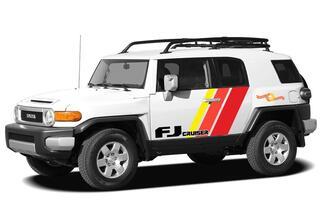 Toyota FJ Cruiser Seitentür drei Streifen Vinyl Aufkleber Aufkleber mit Logo