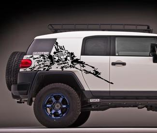 Toyota FJ cruiser side Mud Splash vinyl decals stickers #2