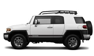 Toyota FJ Cruiser Angled Side Door Racing Vinyl Stripes Decals Graphics