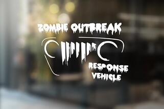 Jeep Rubicon Wrangler Zombie Outbreak Response Team Wrangler Decal#3