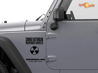 Jeep Rubicon Wrangler Zombie Outbreak Response Team Wrangler Decal kit#9