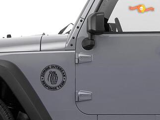Jeep Rubicon Wrangler Zombie Hand Ausbruch Antwort Team Wrangler Aufkleber