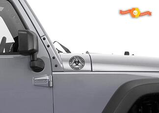 Jeep Rubicon Wrangler Zombie Outbreak Response Team Wrangler Decal#9