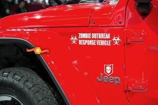 Jeep Rubicon Wrangler Zombie Ausbruch Ausbruch Team Wrangler Aufkleber Kit # 2