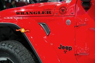 Jeep Rubicon Wrangler Zombie Outbreak Response Team Wrangler Decal kit#4
